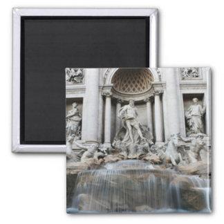 Trevi Fountain Rome Square Magnet
