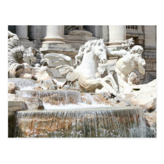 Trevi Fountain Triton and Horse in Rome, Italy Postcard