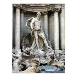 trevi statue postcard