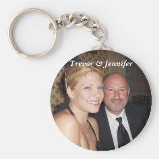 Trevor & Jennifer Basic Round Button Key Ring