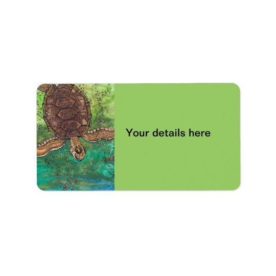 Trevor the Turtle Address Label