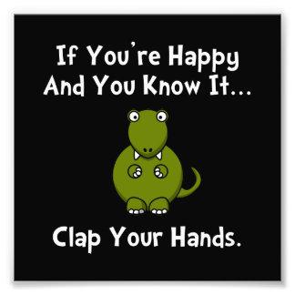 TRex Clap Art Photo
