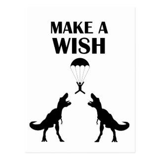 TRex Make a Wish Postcard