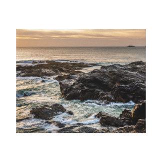 Treyarnon Bay, Cornwall, Coast Sunset Canvas Print
