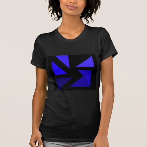 Tri 3 Blue - CricketDiane Abstract PopArt Tee Shirts