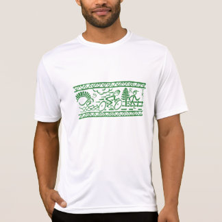 Tri-Band in Green Tee Shirt