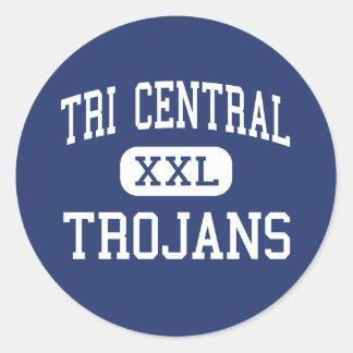 Tri Central - Trojans - High - Sharpsville Indiana Round Stickers