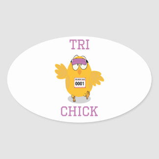 Tri Chick Stickers