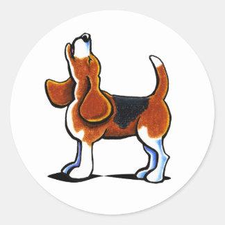 Tri-color Beagle Bay Round Sticker