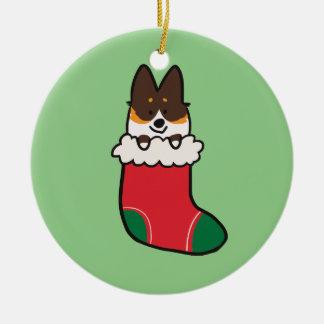 Tri-Color Corgi Stocking Ornament | CorgiThings
