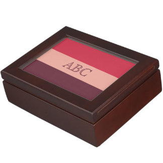 Tri-Color custom monogram keepsake box