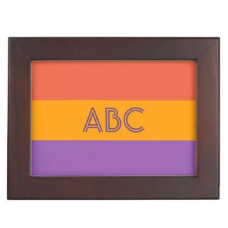 Tri-Color custom monogram keepsake box