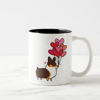 Tri-Color Love & Hearts Corgi Mug | CorgiThings