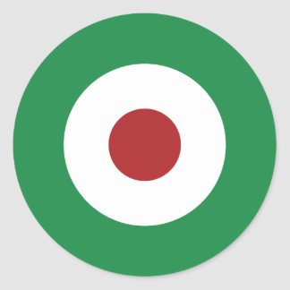 Tri-Color Mod Bullseye Classic Round Sticker