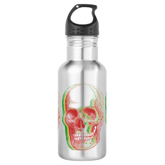 Tri-color Rasta Skull 532 Ml Water Bottle