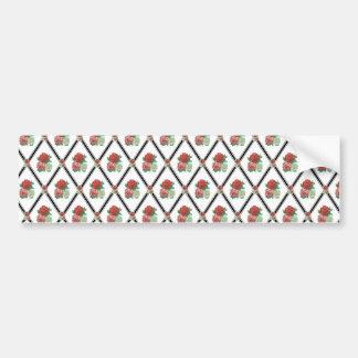 Tri Color Roses Wallpaper Pattern Bumper Sticker