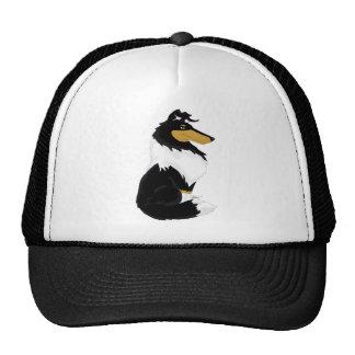 Tri-color Rough Collie Cartoon Hat