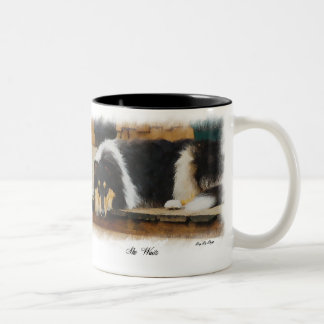 Tri-Color Rough Collie Gifts Two-Tone Mug