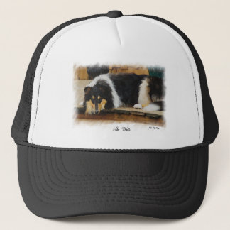 Tri-Color Rough Collie Gifts Trucker Hat