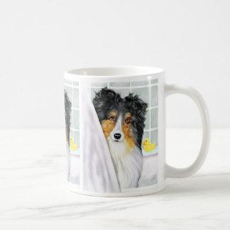 Tri Color Sheltie Bath Mug