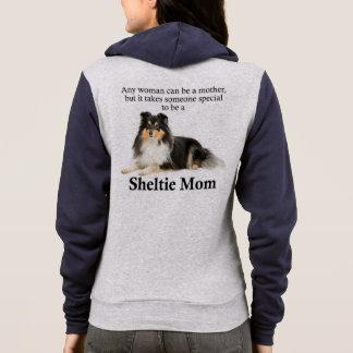 Tri-Color Sheltie Mom Hoodie