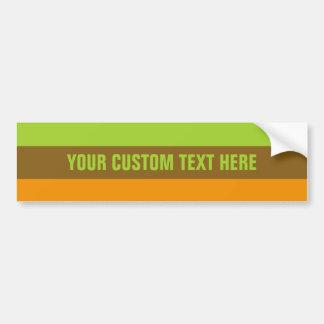 Tri-color stripes custom bumpersticker bumper sticker