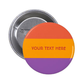 Tri-color stripes custom button