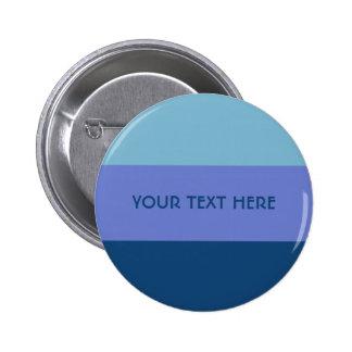 Tri-color stripes custom button