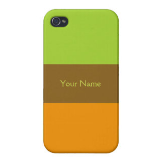 Tri-color stripes custom cases iPhone 4/4S cover