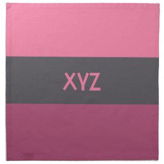 Tri-color stripes custom cloth napkins
