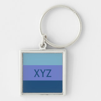 Tri-color stripes custom key chains