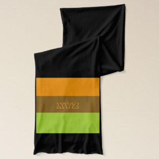 Tri-color stripes custom scarfs scarf