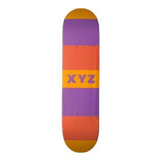 Tri-color stripes custom skateboards