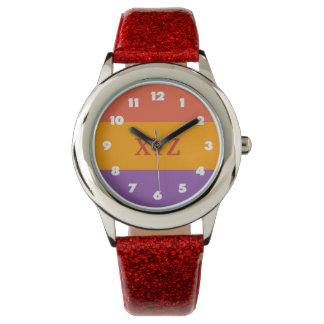 Tri-color stripes custom watches