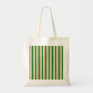 Tri-color Stripes in Christmas Green, Gold Silver Bag