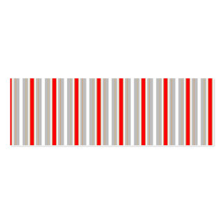 Tri-Color Stripes in Christmas Red Gold and Silver Business Card Templates