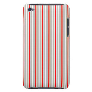 Tri-Color Stripes in Christmas Red Gold and Silver iPod Touch Cover