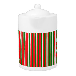 Tri-Color Stripes in Christmas Red, Green & White