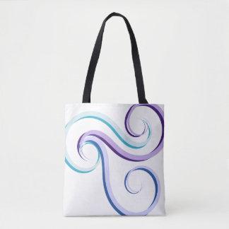 Tri-Color Swirl Tote Bag