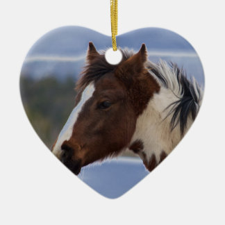 Tri-Colored Horse Christmas Ornament