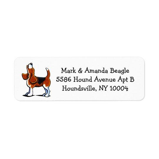 Tri-colour Beagle Bay Simple Return Address Label