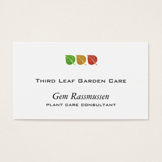 Tri-Colour Leaves Business Card