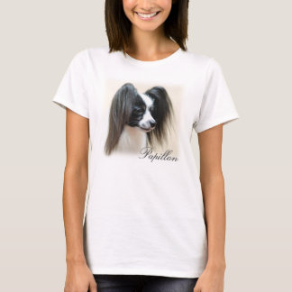 Tri-Colour Papillon Dog T-Shirt
