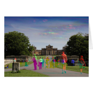 Tri Colour Photograph Of Blenheim Palace, Card