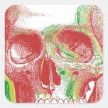 Tri-colour Rasta Skull