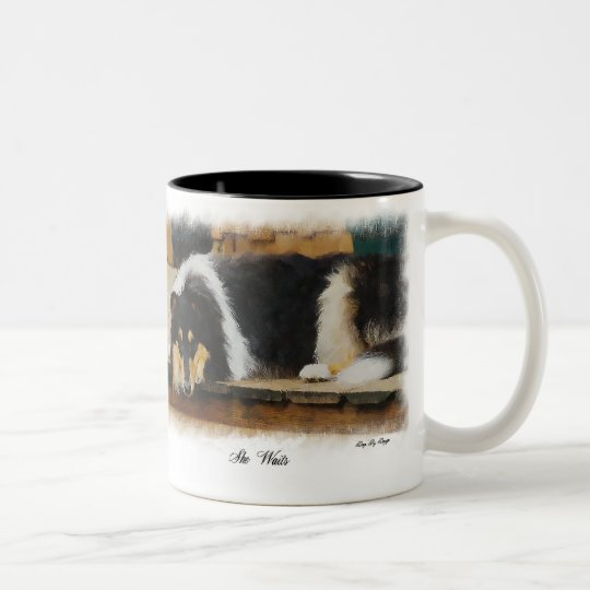Tri-Colour Rough Collie Gifts Two-Tone Coffee Mug