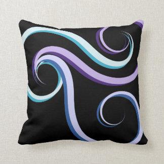 Tri-Colour Swirl Cushion