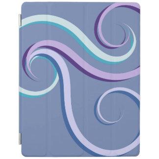 Tri-Colour Swirl iPad Cover
