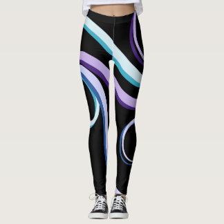 Tri-Colour Swirl Leggings