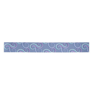 Tri-Colour Swirl Pattern Satin Ribbon